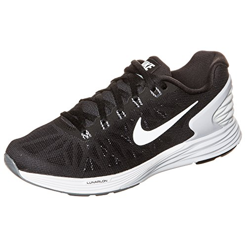 Nike Lunarglide 6, Running Entrainement Femme BLACK/WHITE-PURE PLATINUM-COOL GREY