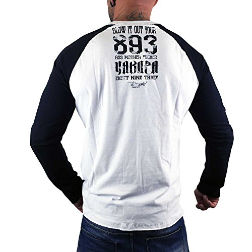 Yakuza Original Herren Blow It Out Longsleeve T-Shirt Weiß