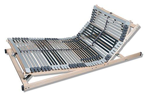 federholzrahmen 180x200 MediBalance 7 Zonen Lattenrost, 44 Federholzleisten, Mittelgurt, verstellbarer Sitz- und Schlafkomfortrahmen 90x200 cm