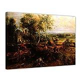 Bilderdepot24 Kunstdruck - Alte Meister - Peter Paul Rubens - Landschaft mit Ansicht von Schloss Steen - 70x50cm Einteilig - Leinwandbilder - Bilder als Leinwanddruck - Bild auf Leinwand - Wandbild