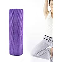 Denshine Alta Densidad De Punto Flotante De EVA Rodillo De Espuma Rodillo De Masaje Para Yoga 30 x 15 Color púrpura