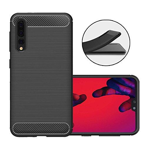 Coque Huawei P20 Pro, Beyeah Contemporain Chic Ultra Slim Élégant Motif Flexible Plein-corps Textured Protection TPU Pour Huawei P20 Pro (Noir)