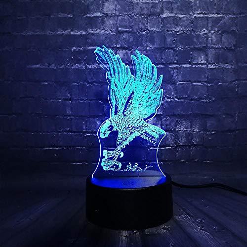 VOTOVCOM 3D Eule Carving LED Nachtlicht Dekoration Tier Lampe Schlafzimmer Schlaf Licht 7 Farbwechsel Junge Kind Spielzeug -