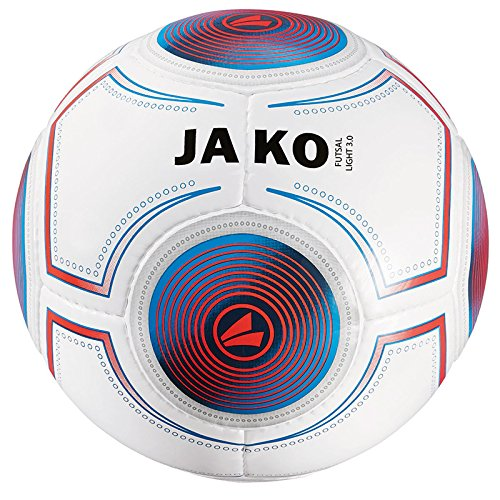 JAKO Herren Ball Futsal Light 3.0, weiß blau/flame-360g, 4