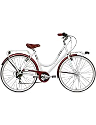 "VERTEK de mujer 6 para bicicleta 26"" velocita'blanco leche (City)/Bicycle Londres for woman 26 6"" speed White milk (City)"