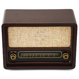 Radio d' epoca retro vintage anni 50' a batterie legno bagno cucina by Relaxdays