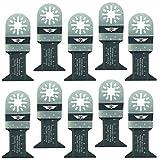 TopsTools UN44B_10, 10-teiliges Klingenset für Bosch, Fein Multimaster, Multitalent, Makita, Milwaukee, Einhell, ergotools, Hitachi, Parkside, Ryobi, Worx, Workzone, Multitool, Universal-Zubehör, 10 x 44mm
