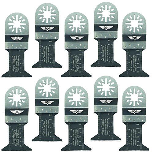 10x 44mm topstools un44b _ 10Metall schneiden Klingen für Bosch, Fein Multimaster, Multitalent, Makita, Milwaukee, Einhell, ergotools, Hitachi, Parkside, Ryobi, Worx, Workzone Multitool Multi Tool Zubehör