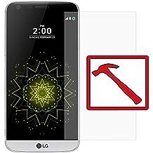 """Slabo PREMIUM Film protection d'écran en verre trempé pour LG G5 protection écran film de protection (la taille des films est réduite à cause d'un écran bombé) """"Tempered Glass"""" CLAIR - Dureté 9H"""