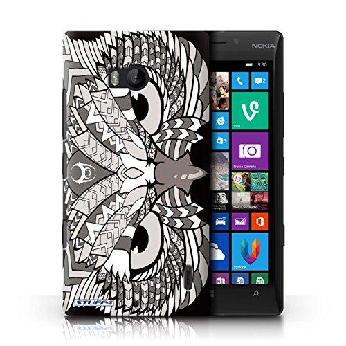 Coque en plastique pour Nokia Lumia 930 Collection Motif Animaux Aztec - Loup-Cramoisi Hibou-Mono