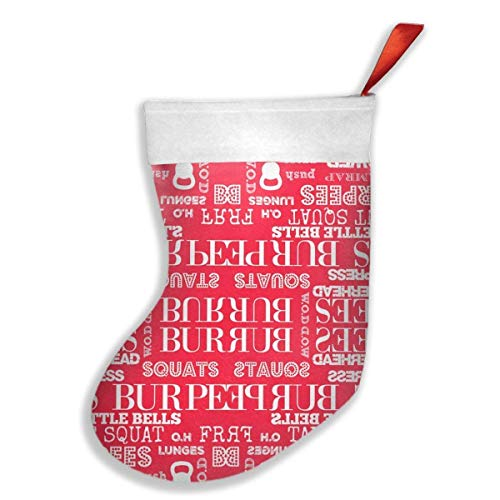 deyhfef I Love Burpees Red Christmas Holiday Stockings Family Parties, Schools, Classrooms, Clubs, Offices, Employees (Billig Red Club Kleider)