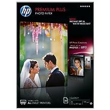 HP Premium Plus CR674A - Papel fotográfico brillante (50 hojas, A4)