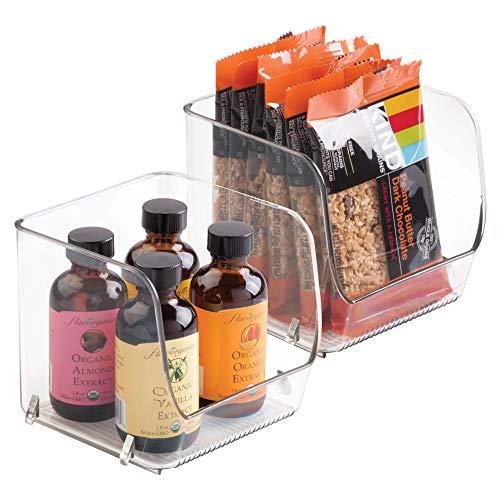 """Behälter """"Linus"""" zum Organisieren von InterDesign, stapelbar, ideal für Küche, Vorratsraum, Büro, Badezimmer, Set of 2, S"""