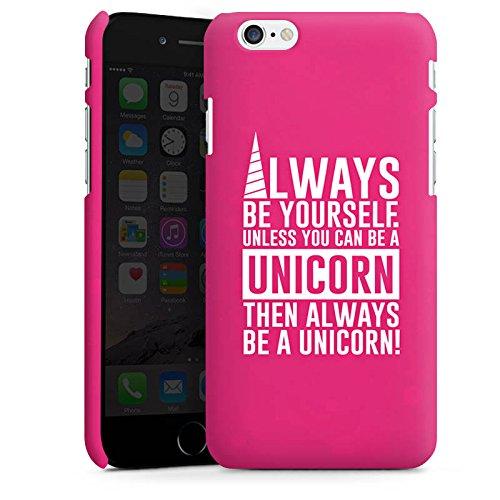 Apple iPhone X Silikon Hülle Case Schutzhülle Einhorn Unicorn Sprüche Spruch Statement Premium Case matt