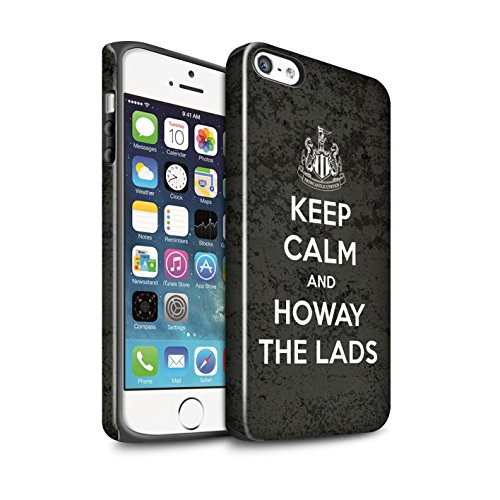 Offiziell Newcastle United FC Hülle / Glanz Harten Stoßfest Case für Apple iPhone SE / Pack 7pcs Muster / NUFC Keep Calm Kollektion Howay Jungs