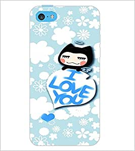 PrintDhaba Love Quote D-2931 Back Case Cover for APPLE IPHONE 5C (Multi-Coloured)