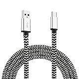 USB Typ C Kabel auf USB 3.0 USB C Ladekabel 2m Nylon Grau für Type C Geräte MacBook Pro 2016, Samsung Galaxy S8, Huawei P10, OnePlus 2/3