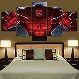 (size 3) Affiche moderne impression HD toile peinture 5 pièce mur art hulk affiche modulaire photo décoration de la maison