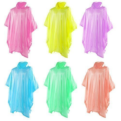 Light Weight Disposable Rain Jacket / Coat / Poncho (x4) Perfect for Festivals!! (4 x Ponchos)