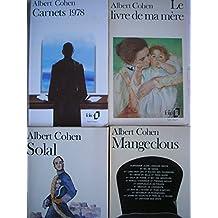 albert cohen - lot 4 livres : le livre de ma mere - carnets 1978 - mangeclous - solal