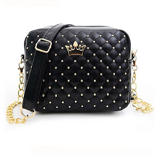 Borsa Familizo Elegant 2016 Women's Messenger Bags Rivet Chain Shoulder