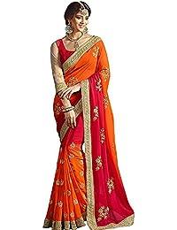 Arohi Designer Women'S Clothing Saree For Women Latest Design Saree New Collection 2018 (GloryOrange-AROHIM15*...