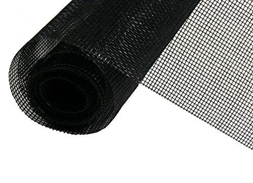 Fiberglas Haustiergewebe Katzenschutzgitter Gaze schwarz Meterware