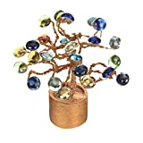 #3: CAAJIB Lucky Charm Stone Artificial Flower Plant with Vase Pot for Home Decor Decorative Flowers, Height 14 cm, Multicolour