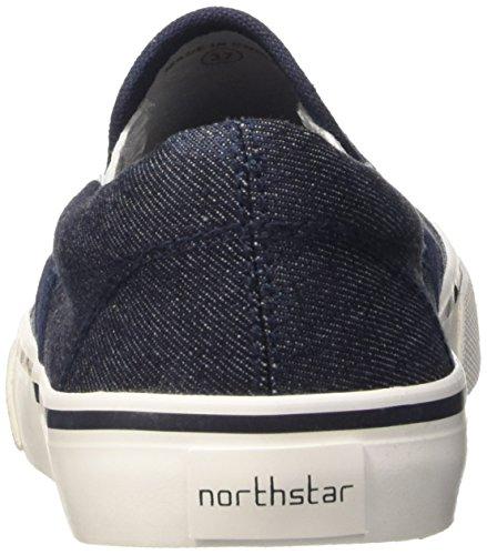North Star 5399111, Pompes à Plateforme Plate Femme Bleu (Blu)