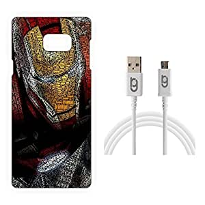 Designer Hard Back Case for Samsung Galaxy Note 5 with 1.5m Micro USB Cable