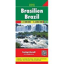 Brasilien, Autokarte 1:2.000.000 - 1:3.000.000, freytag & berndt Auto + Freizeitkarten