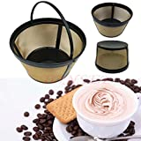 Gotd Reusable Filters Hamilton Beach Permanent Gold Tone Filter, 8 to 12-Cups (Gold)