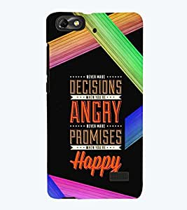 PRINTSWAG QUOTE Designer Back Cover Case for HUAWEI HONOR 4C