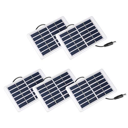 sourcing map 5Stk.1.2W 6V Klein Solarpanel Module DIY Polysilicium für Telefon 3 Meter Draht