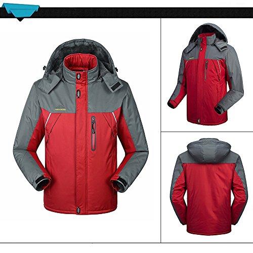 Lixada Giacca Antivento Giacca Ciclismo Antivento Giacca Uomo Invernale Cappotto Campeggio Sci Running rosso