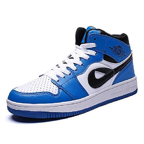 Männer Casual Wind Sportschuhe Chicago Board Schuhe Luftwaffe Nr. 1 Hip Hop Frau Hohe Schuhe Dämpfung Laufschuhe Basketballschuhe (Farbe : Blau, größe : 47) Chicago Board