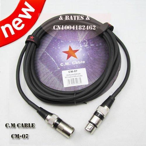Paxten (TM) Cavi audio, 4,6m (4.5m) cavo schermato XLR, XLR femmina a XLR maschio (cm-07)
