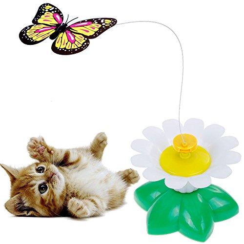 Katzenspielzeug Lictin Katze Spielen drehendem Schmetterling Elektrische Rotierende Spielzeug