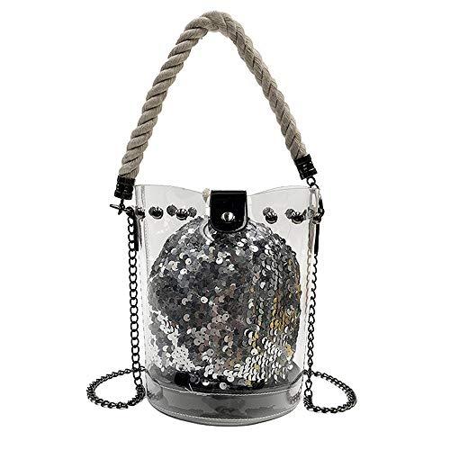 Junmaono borse/borsetta/messenger bag/borsa a tracolla/borsa da spiaggia/borsa da viaggio/borsa a tracolla/zaino/portafoglio/borsa/borsa per cosmetici/ventiquattrore 21 * 14 * 19cm (black)