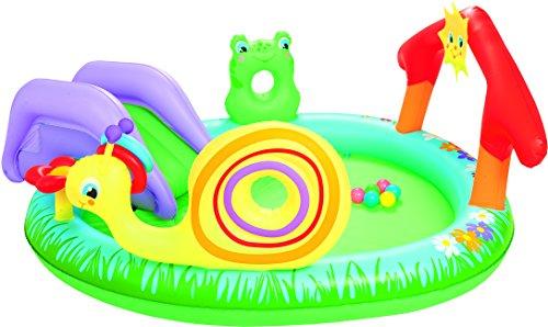 Bestway 8321476 8321476-Piscina Infantil tobogán, 211 x 155 cm, Azul, 40x40x11 cm