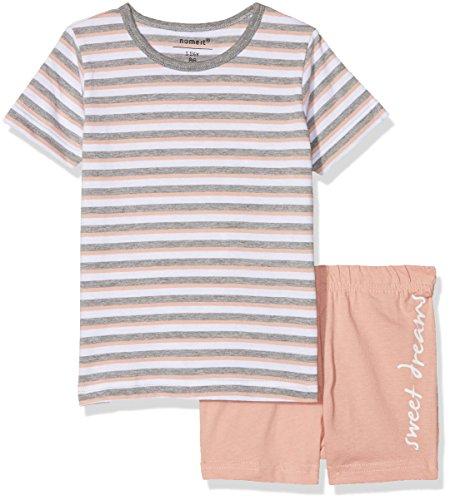 NAME IT NAME IT Baby - Mädchen NMFNIGHTSET Rose TAN SS Shorts Zweiteiliger Schlafanzug, per Pack Mehrfarbig (Rose Tan Rose Tan), 92 (Herstellergröße: 92)