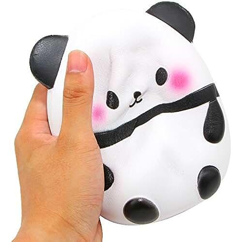 juguetes kawaii Xinyi (Squishy lent Rising Rainbow Fraise Kawaii Cadeau pour fille/garçon fête danniversaire 14 cm panda