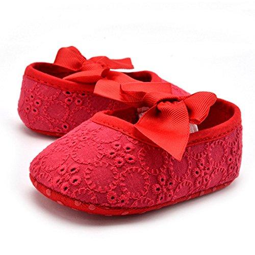 Belsen Neugeborene Baby Mädchen Mode schön Prinzessin Weicher Boden schuhe Kleinkind Schuhe Rot