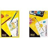 Idena 10390 - Malblock FSC-Mix, A4, 100 Blatt, 70 g/m², schön dick, 1 Stück & 10388 - Zeichenblock, DIN A3, 10 Blatt…