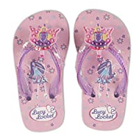 Lucy Locket Pink Sequin Fairy Kids Flip Flops Sandals Shoes Size 28 / UK 10