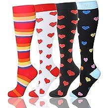 Calcetines de compresión graduada para mujeres y hombres de 20–30 mmHg, medias de