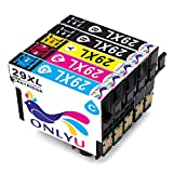ONLYU 5-Pack Compatible Epson 29 XL 29XL Cartucho de tinta para Epson Expression Home P-235 XP-245 XP-247 XP-330 X XP-332 XP-335 XP-342 XP-345 XP-430 XP-432 XP-435 XP-442 XP-445 (2B/1C/1M/1Y)