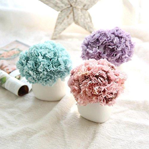 Hunpta Künstliche Kunstblumen Nelken blumige Hochzeit Bouquet Braut Hortensie Dekor