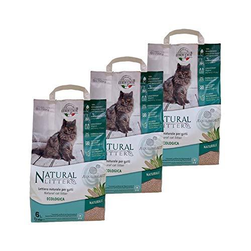 Marpet - 3 Säcke Natürliche Katzenstreu 100% biologisch abbaubar - Natürlich - ÆQUILIBRIAVET-NATURALE18