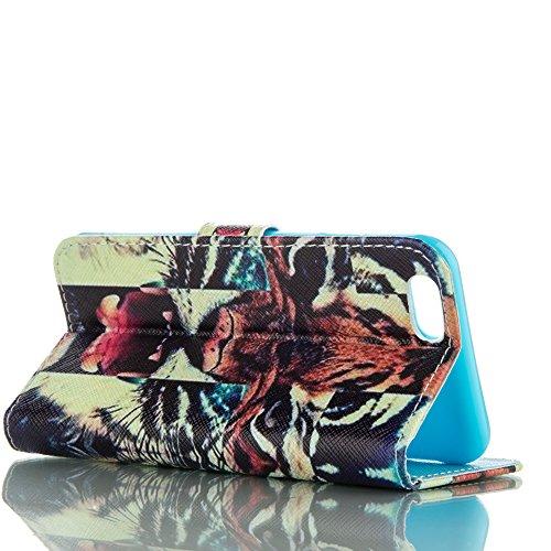 PU für Apple iPhone 6 (4.7 Zoll) Hülle,Geprägte Campanula Handyhülle / Tasche / Cover / Case für das Apple iPhone 6 (4.7 Zoll) PU Leder Flip Cover Leder Hülle Kunstleder Folio Schutzhülle Wallet Tasch 5